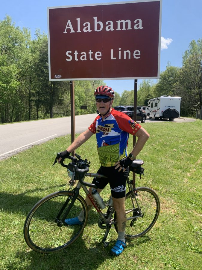 Day 2-Hohenwald to MM 338 then Florence, AL-60 miles-2400 feet of elevation.