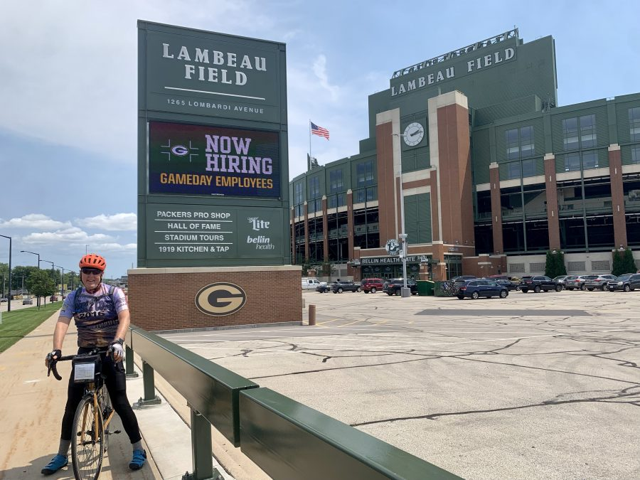 Day 43-Wittenberg to Green Bay, WI-70 miles and 1020 feet of elevation.