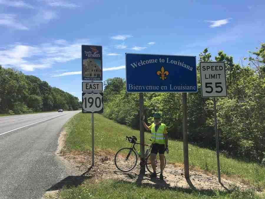 Day 35: Silsbee, Texas to DeRidder, Louisiana – 73 miles
