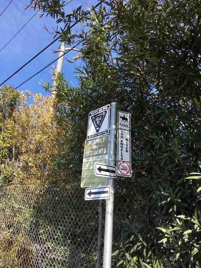 LA river bike path and Bixby Knolls