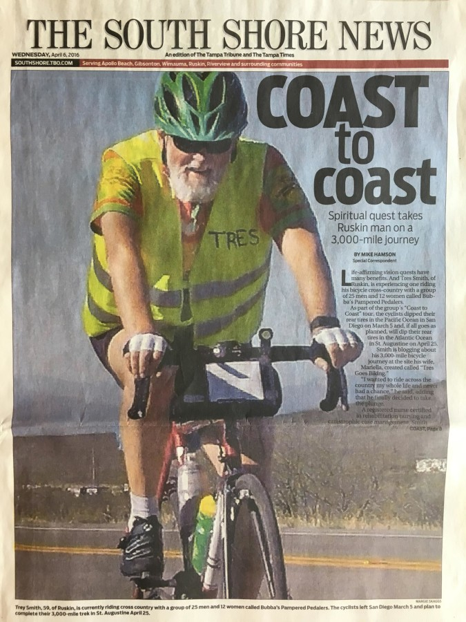 Extra: Tres's Ride in the Newspaper