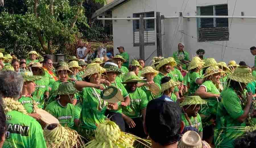 Wednesday morning Aitutaki after a cyclone hit Fiji
