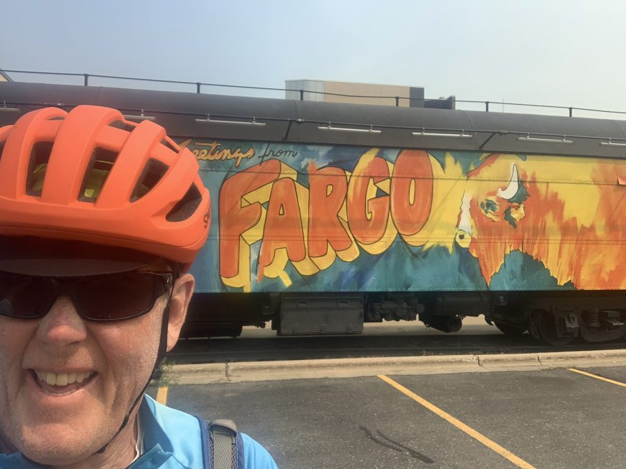 Day 33-Enderlin to Fargo-64.8 miles with side trip to downtown and some elevation